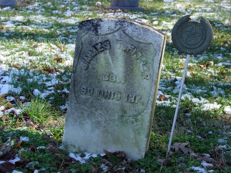 James Fisher Civil War marker