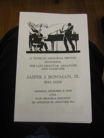 Jaspar Bowman Memorial Concert