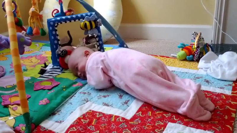 She rolled over for the 3rd time today!, Sorry no audio on this one, phone needed a reboot.