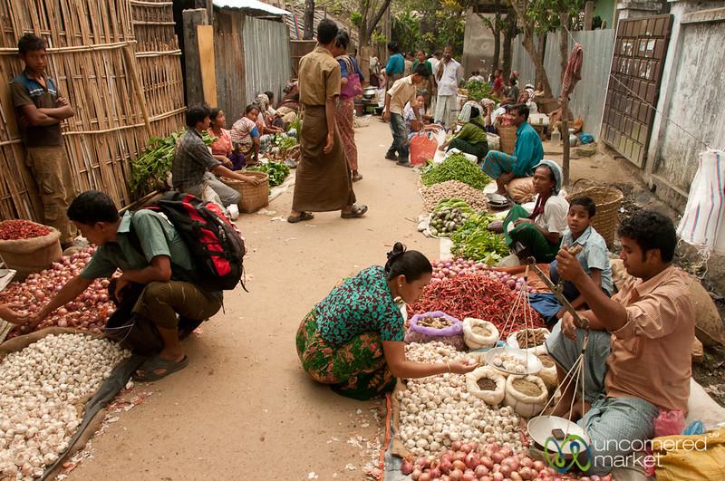 View of Market Day in Bandarban, Bangladesh
