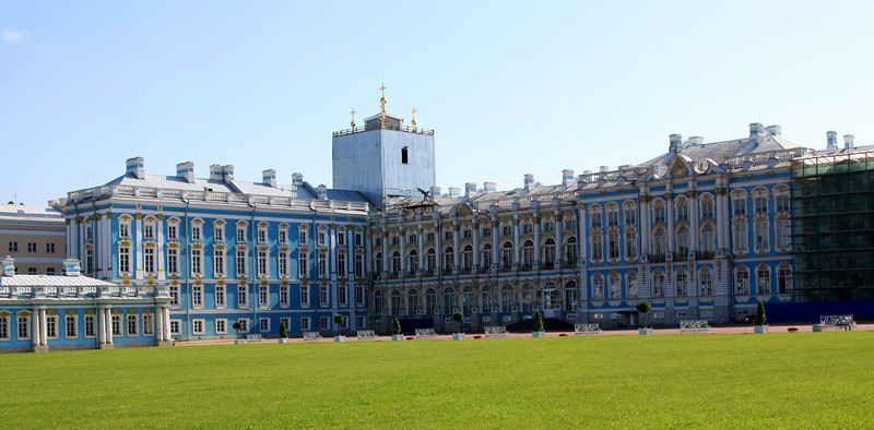 Catherine Palace at Pushkin (or Tsarskoe Selo  - Tsar's village).