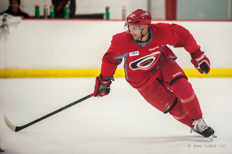 Zach Boychuk. August 22, 2013. Carolina Hurricanes preseason skate at Raleigh Center Ice, Raleigh, NC.  Copyright © 2013 Jamie Kellner. All rights reserved.