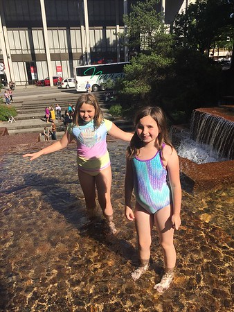 Swimming in Portland Fountain 2018