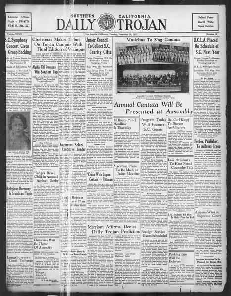 Daily Trojan, Vol. 27, No. 54, December 10, 1935
