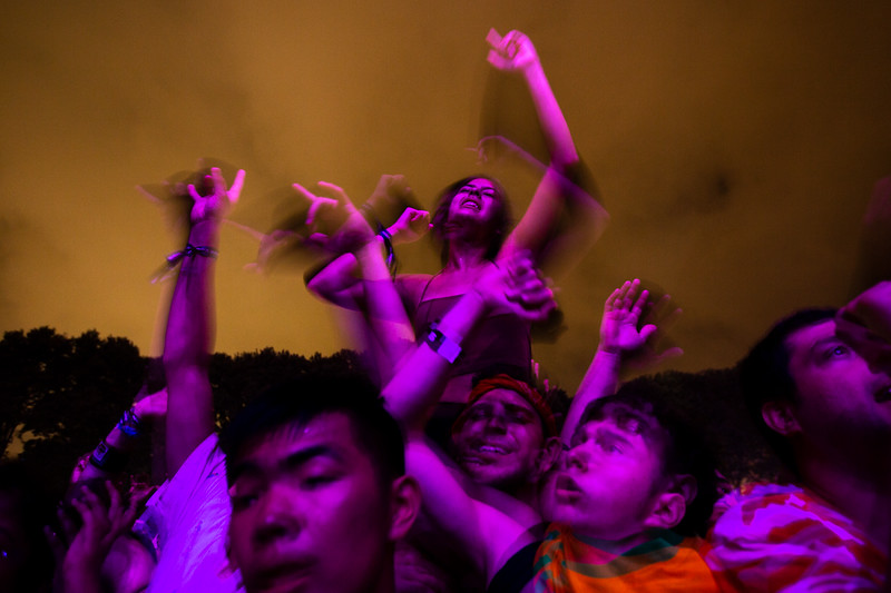 Jennifer Martinez dances to Diplo at the Made in America Festival in Eakins Oval Sunday, September 2, 2018.