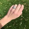 2.85ct Antique Cushion Cut Diamond Halo Ring 1