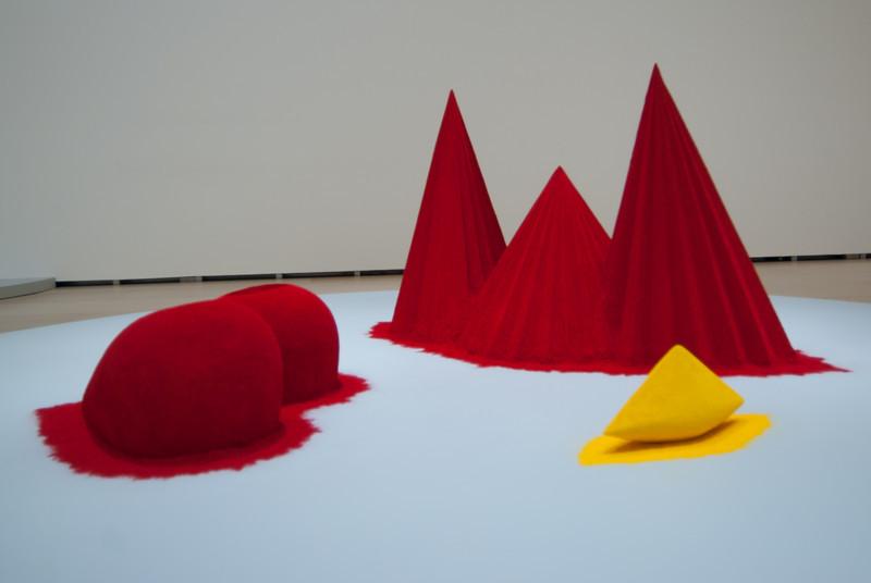 Modern art exhibit in Guggenheim Museum in Bilbao, Spain