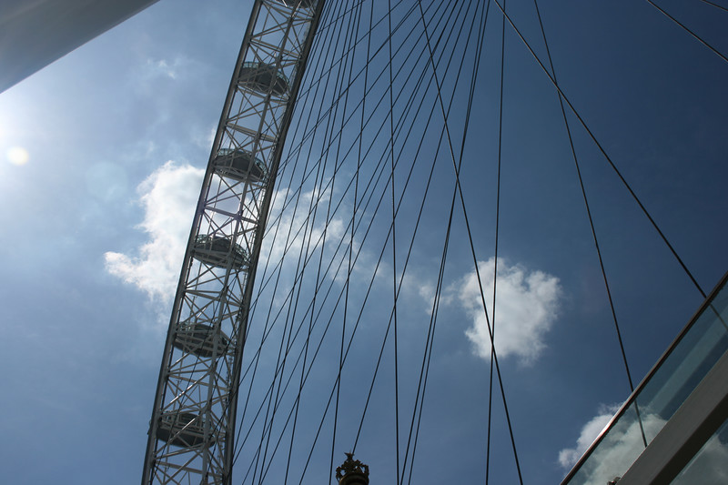 The London Eye ferris wheel.