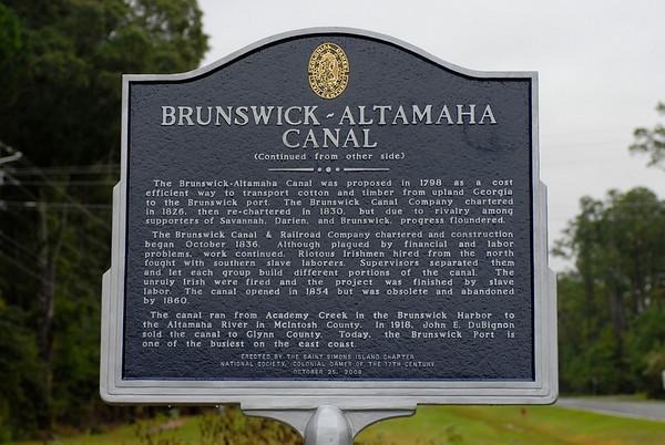 Brunswick-Altamaha Canal 10-25-08