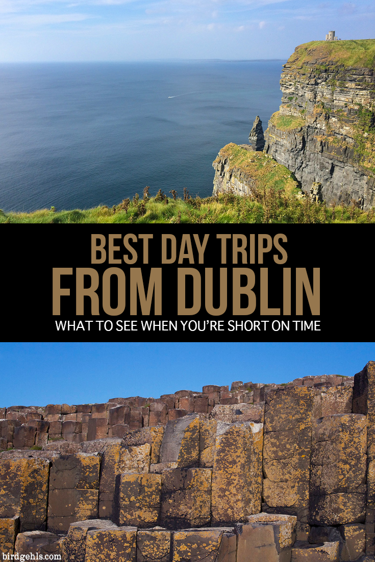 Here are some day trips that you can easily take from #Dublin, #Ireland. This includes some of the most popular Irish tourist sites, such as Giant's Causeway and the Cliffs of Moher, some might good vistas and trips through gorgeous towns! / Day Trips from Dublin / Ireland Itinerary / Ireland Travel Tips / Northern Ireland / Republic of Ireland / Europe Travel /
