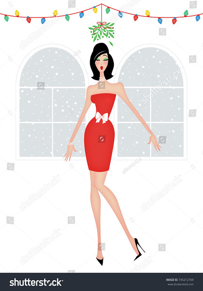 stock-photo-shapely-pretty-woman-under-the-mistletoe-waiting-for-a-kiss-at-christmas-745212769.jpg