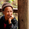 Old woman, Pin An, China