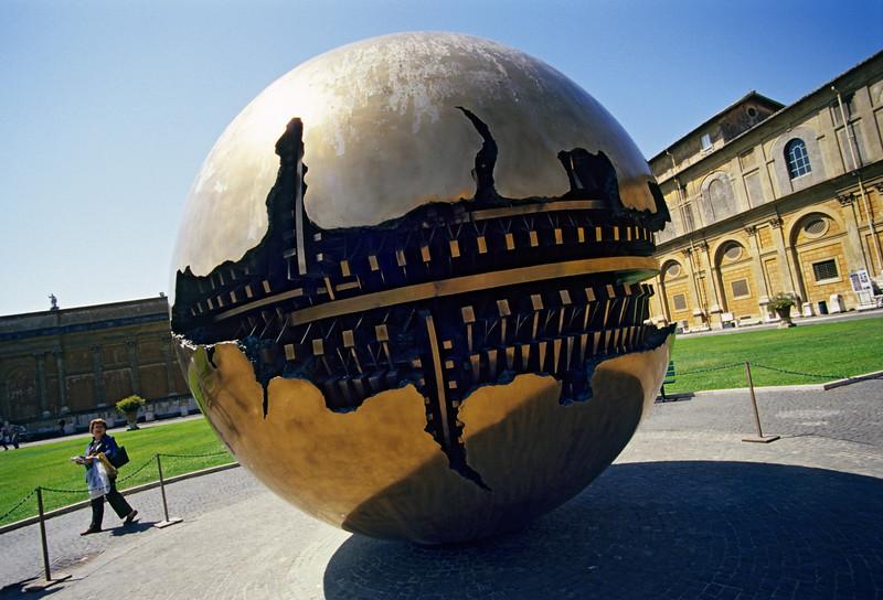 Globe Sculpture at Musei Vaticani, Rome (Italy)