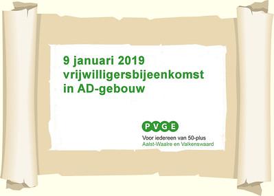 2019-0109 PVGE nieuwjaarsbijeenkomst voor vrijwilligers