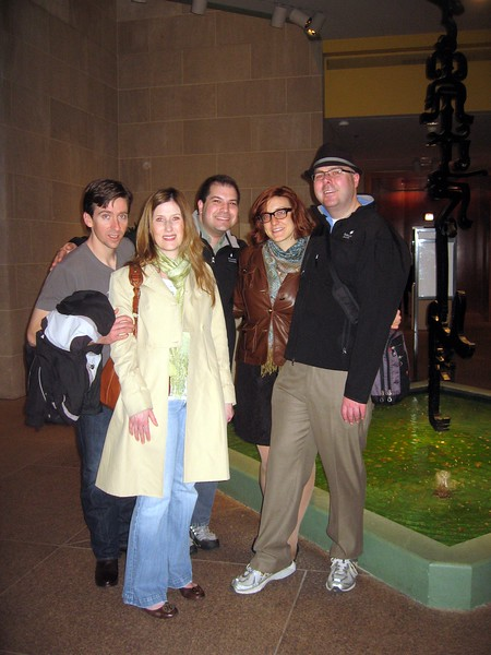 In front of a fountain at the Smithsonian's Arthur M. Sackler Gallery (3/13/11)
