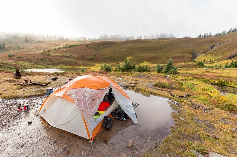 Designated camp-pond.