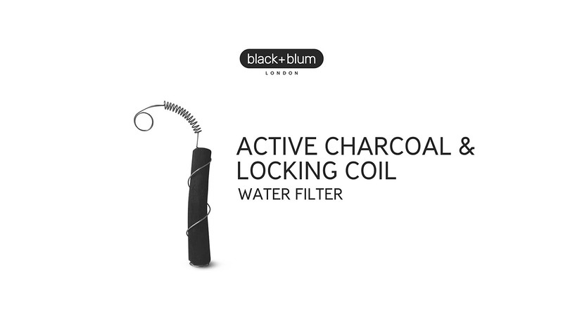 Active Charcoal Water Filter and Coil Black Blum