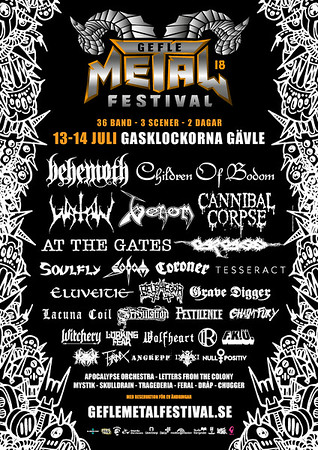 AT THE GATES - Gefle Metal Festival 2018