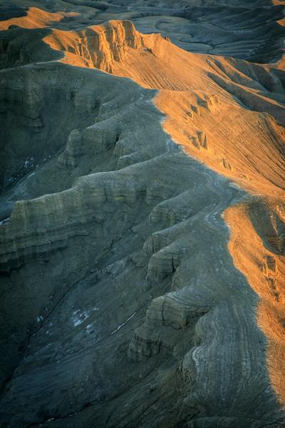 Formations in Badlands below Skyline Overlook