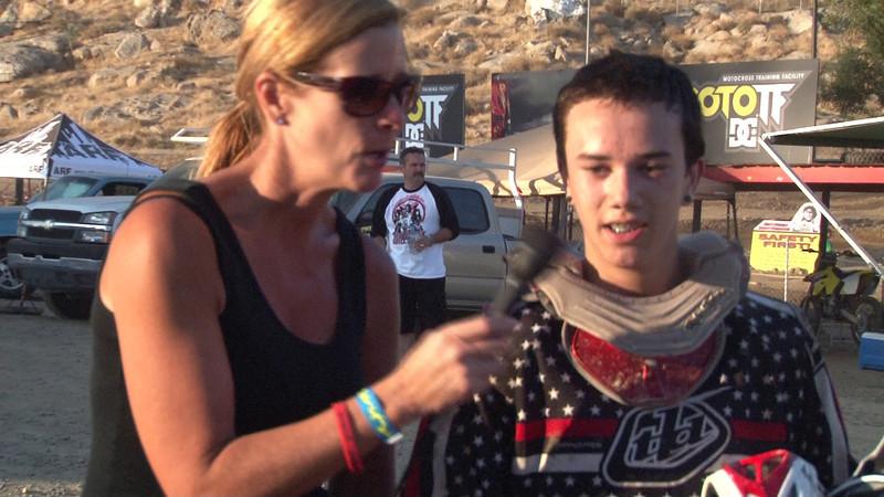 Gordon Keller Moto #1 Winner 85cc 150cc 12 13 Years Old Class #3 2011 Hot Summer Nights Perris Raceway.MTS