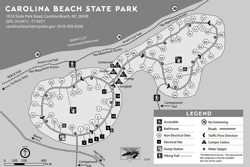 Carolina Beach State Park (Campground Map)