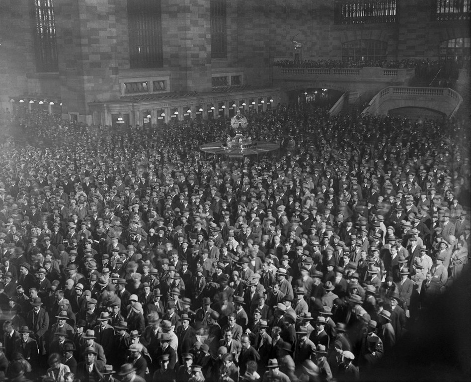 . A view of the crowd at New York\'s Grand Central Station where the Bremen first plane to make a westward flight across the Atlantic was placed May 21, 1929. It made its debut in the heyday of cross-country train travel, faced demolition in the era of the auto, and got a new lease on life with a facelift in its eighth decade. Now Grand Central Terminal, the doyenne of American train stations, is celebrating its 100th birthday. Opened on Feb. 2, 1913, when trains were a luxurious means of traveling across America, the iconic New York landmark with its Beaux-Arts facade is an architectural gem, and still one of America\'s greatest transportation hubs. REUTERS/Bettmann Archive - UPI/Corbis/Handout