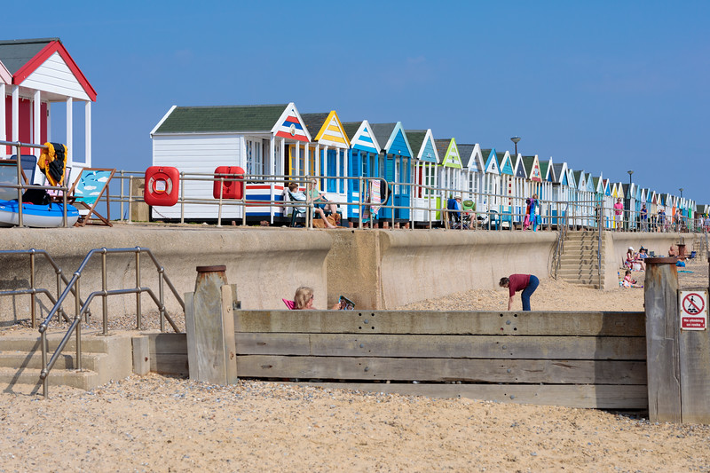 Beach huts in Southwold, Suffolk