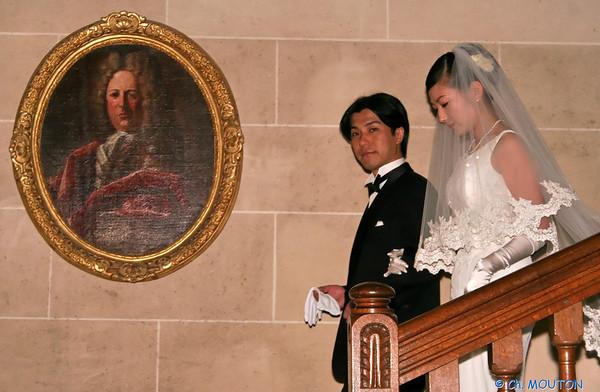 Mariage japonais au Château de la Verrerie - sortie Château