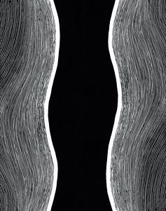 """Understatement"" (linocut) by Dundicz Anastasija"