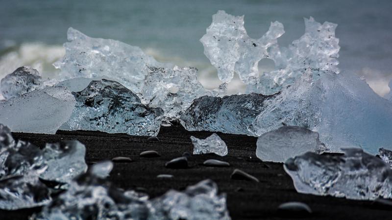 Beach Ice - Jökulsárlón Glacial Lagoon, Iceland