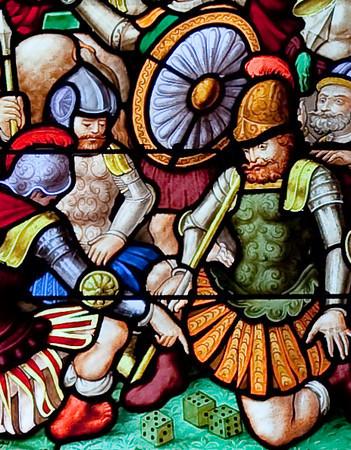 Pleyben - The Crucifixion Window - Soldiers Gambling