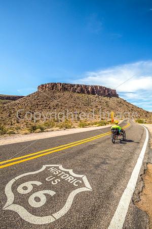 Recumbent Trike on Route 66