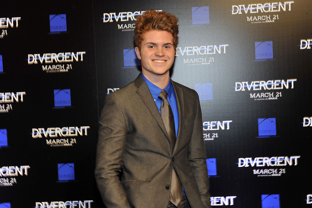 """. Actor Jake Austin Walker attends the \""""Divergent\"""" screening at Regal Atlantic Station on March 3, 2014 in Atlanta, Georgia. (Photo by Moses Robinson/Getty Images)"""