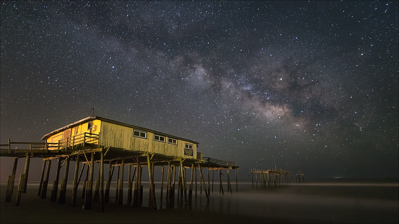 Frisco Pier under the Milky Way