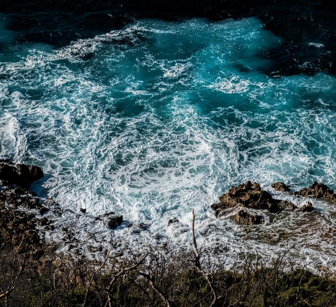 Surreal seashore waves