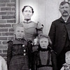 Early photo of museum namesake Anna Miller and family