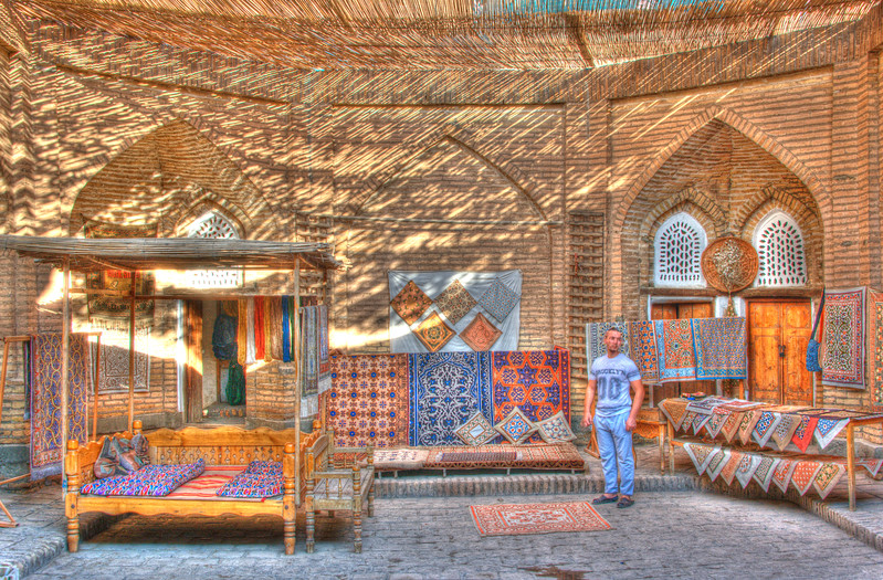 Carpet workshop in Khiva