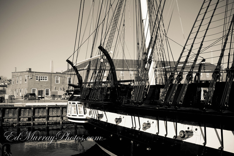 Old Iron Sides: The USS Constitition...The World's oldest commissioned naval ship.