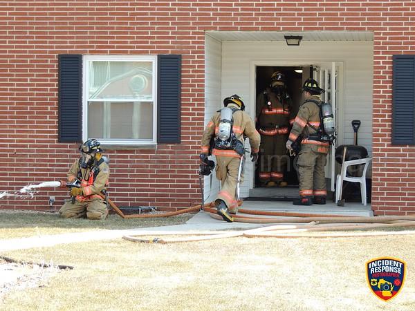 Apartment building fire on April 11, 2018