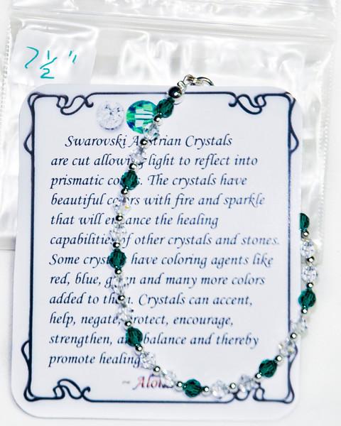 Green & Clear  Swarovski crystal