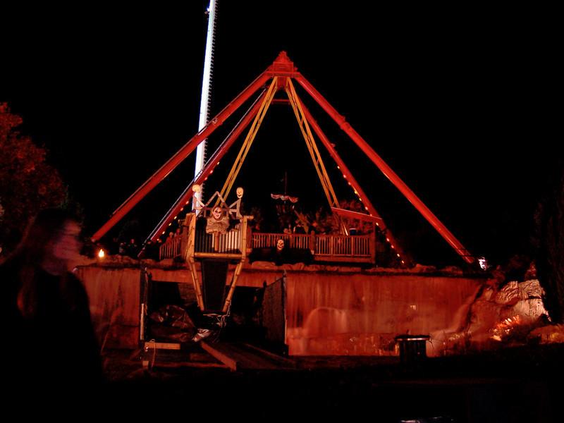 Torso-less person in the Pirate Ship lagoon.