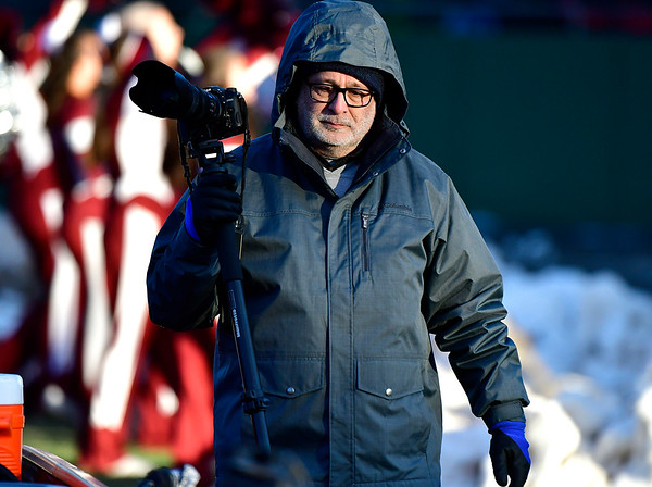 11/23/2018 Mike Orazzi | Staff Ron Tessman during the Battle for the Bell at Muzzy Field Friday. Central won 24-19.