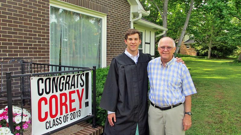May 2013 - Corey Bradley Graduation Party - Corey with Reagan