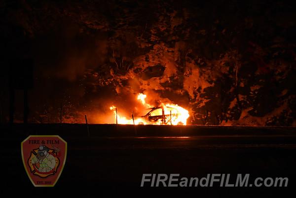 Luzerne County - Hazle Twp. - Vehicle Fire - 01/14/2018