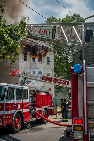 3 Alarm Structure Fire - 49-51 Doyle St, Lawrence, MA - 7/20/17