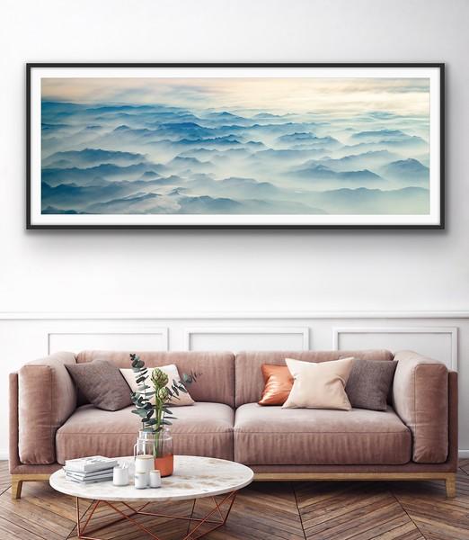 'Sea of Mountains' Fine Art Framed Print Framed/Unframed
