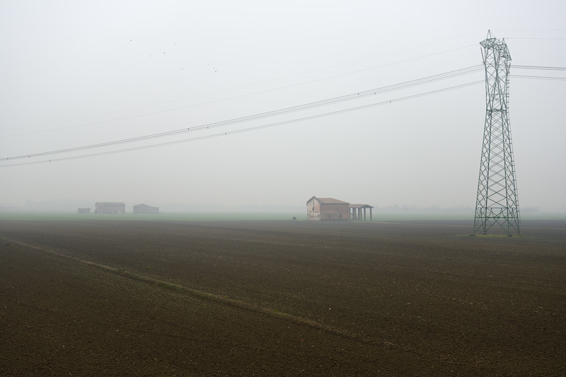 High Voltage Lines - Crevalcore, Bologna, Italy - Novembre 25, 2014