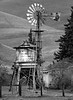 Farm Water Tower and Windmill
