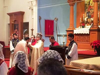 Visit by Very Rev. Fr. Simeon Odabashian, Vicar
