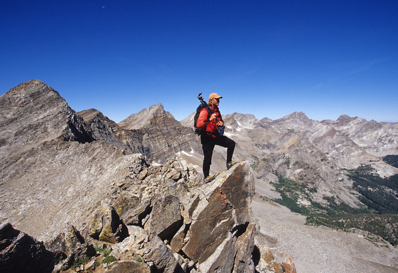 Matt enjoys the view from the Crest of Wildhorse Canyon in the Pioneer Mountains.